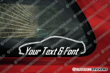 2x Nissan 350z / fairlady Z32 CUSTOM TEXT stickers